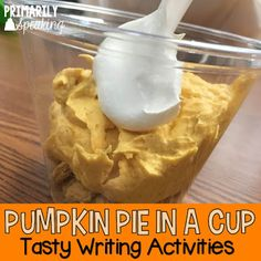 Pumpkin pie writing