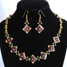 Tila Beaded Necklace and Earrings. $28.00, via Etsy.