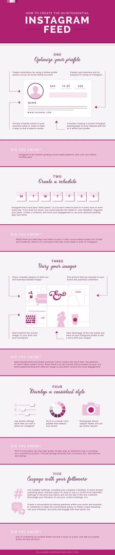 One of my favorite infographics to help you create that gorgeous Instagram feed