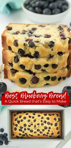 Blueberry Quick Bread, Healthy Blueberry Muffins, Blueberry Desserts, Peanut Butter Bread, Cupcake Cakes, Cupcakes, Cake Cookies, Baking Flour, Dessert Bread