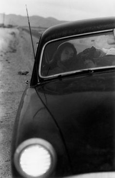 """""""U.S. 90, En Route to Del Rio, Texas,'' 1955. The final photo in ''The Americans,'' showing Frank's wife Mary and his son, Pablo. Credit Robert Frank via Pace/MacGill Gallery The Man Who Saw America - The New York Times"""