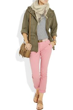 Take a look at the best pink pants outfit work in the photos below and get ideas for your own outfits! How to wear bright colors at the office with these fuchsia pink pants, navy and white striped boyfriend shirt… Continue Reading → Early Spring Outfits, Fall Winter Outfits, Summer Outfits, Casual Outfits, Cute Outfits, Fashion Outfits, Pink Jeans Outfit, Pink Pants, Pants Outfit