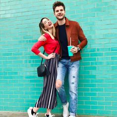 Zoe and Jim Everyday Outfits, Everyday Fashion, Adam Style, My Style, Zoella Style, Zoella Outfits, Jim Chapman, Zoe Sugg, Jeans And Converse