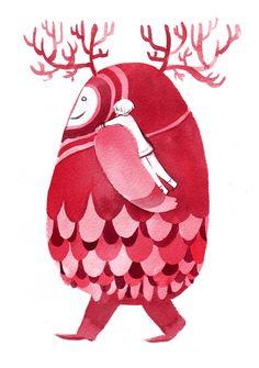 yoiko Antlered egg creature