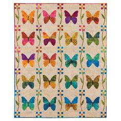 Butterfly Patch Quilt Pattern by Edyta Sitar can be created using GO! Butterfly by Edyta Sitar GO! Simple Shapes by Edyta Sitar Applique Patterns, Applique Quilts, Quilt Patterns, Quilting Projects, Quilting Designs, Sewing Projects, Patch Quilt, Quilt Blocks, Butterfly Quilt Pattern