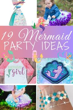 Make your daughter's mermaid birthday party theme extra special with these mermaid birthday party ideas! Find your daughter's perfect mermaid birthday outfit and send her friends home with mermaid party favors! And there is so much more in this group of ideas. Click on this pin or visit VanahLynn.com!  Also feel free to check out our other articles on our blog to get 1st birthday cake pop ideas, one year old birthday party food and mermaid birthday party favors.