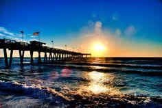 Venice Beach Pier Sunset Hdr By Photos Chris M