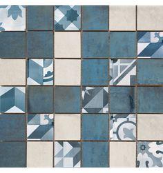 Marockanskt kakel på kakelmonster.se | Cifre Mosaik Montblanc Blå 30x30