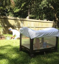 While your old sheets may be ready to retire from your bed, they have a lot more life in them than you think. From the garden to the beach, put your old sheets to new use with these clever upcycles. Old Bed Sheets, Crib Sheets, Good Parenting, Parenting Hacks, Practical Parenting, Parenting Plan, Pack And Play, Ideas Prácticas, Mosquitos