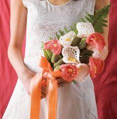 crocheted wedding bouquet: