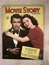 MOVIE STORY- AUGUST, 1947 - SHIRLEY TEMPLE & CARY GRANT COVER  -BACHELOR & BOBBY