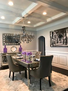 Luxury dining room, dining room design, dining area, dining table, sale a. Dinning Room Wall Decor, Dining Room Walls, Living Room Decor, Bedroom Decor, Dining Table Design, Dinning Table, Dining Area, Luxury Dining Room, Design Case