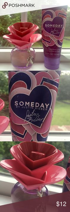 """Someday"" by Justin Bieber Perfume & Lotion Perfume never used. Lotion is half used but still a lot left. In great condition. Other"