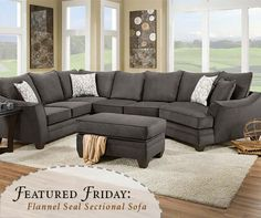 Not much gets better than a comfy oversized cuddler! We are loving this gray sectional! | American Freight
