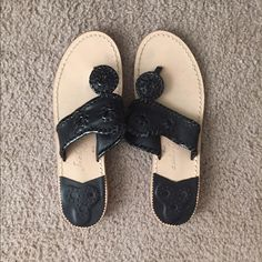 Jack Rodger sandals Black, only signs of wear are on the bottom! Price negotiable! Jack Rogers Shoes Sandals