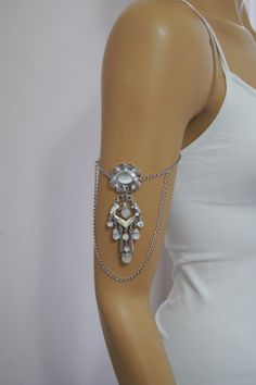 BOHO Wedding moon Stone  Bracelet Leg Chain by ArtofAccessory