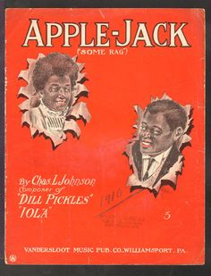 """L. Johnson. """"Some Rag"""". PIANO SOLO, NO VOCAL. Instrumentation:Piano Only. Cover Artist:Nelson Guy Chilberg. APPLE JACK. SHEET MUSIC. SINGLE SHEET MUSIC WINS. 