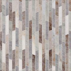 Talya Multi Finish 8 13/16x 14 5/16 Rhodes Pa Al Av Marble Waterjet Mosaics - Country Floors of America LLC.
