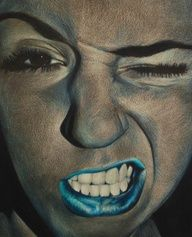 colored pencil on black paper - skin tones plus one color - monochromatic - art lesson - high school