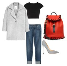"""""""Untitled #8"""" by maraiah on Polyvore featuring 7 For All Mankind, Alice + Olivia, MANGO, Acne Studios and Jimmy Choo"""
