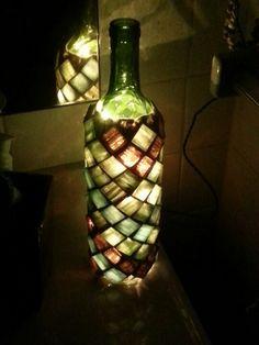 Wine bottle lamp :)