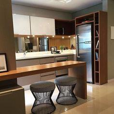 """958 Gostos, 27 Comentários - Eu Te Inspiro - Arquitetura (@euteinspiro) no Instagram: """"Cozinha integrada por @luisafgrillo #cozinha #cozinhas #kitchen #kitchens #cucina #kookken #cocina…"""""""