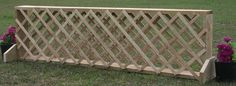 Trellis Style Filler. This could be made with actual lattice or scraps cut skinny.