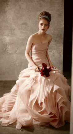 vera wang. i love the blush dress idea.
