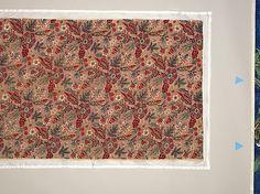 Fragment de coton imprimé, fin du XVIII° siècle. Indiennes. Conservé au Met, New York, 1975.444.