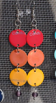 paint chip earrings