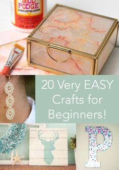 20 EASY Mod Podge Craft Ideas for Beginners, DIY and Crafts, Are you looking for some easy projects to get you started with Mod Podge? Here are 20 beginner Mod Podge craft ideas to teach you how it& done! Diy Craft Projects, Craft Projects For Adults, Arts And Crafts For Adults, Crafts For Teens To Make, Easy Arts And Crafts, Adult Crafts, Easy Diy Crafts, Diy For Teens, Diy Crafts To Sell