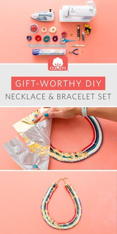 A holiday how-to from us and Brit   Co: give the gift of glam with this DIY necklace and bracelet set.