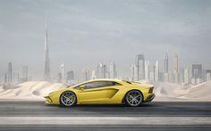Lamborghini Aventador S, 2017, yellow supercar, yellow Aventador, 2017 cars