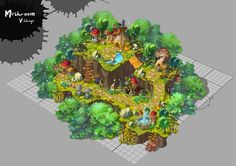 Bg Design, Game Design, Environment Concept Art, Environment Design, Buildings Artwork, Game Textures, Fantasy Map, Fantasy Forest, Pixel Art Games