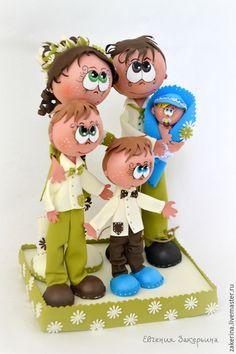 Купить Кукла из из фоамирана - разноцветный, пары, семья, любовь, фом, фоамиран…