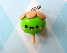 Kawaii Polymer Clay Charm Caramel Apple by JollyCharms on Etsy, $5.00