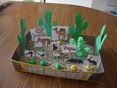 Desert Unit- LOVE the cereal box idea, so much easier than getting kids to bring shoe boxes!