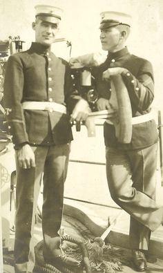 The China Marines > Asiatic Fleet > Pvt Harvey Marine Corps Uniforms, Marine Corps History, Us Marine Corps, Military Uniforms, Military Men, Military History, Military Fashion, Marine Raiders, Once A Marine