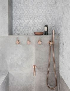 Grey Bathroom Tiles, Tub Tile, Modern Bathroom Decor, Tiny House Bathroom, Bathroom Layout, Bathroom Interior Design, Small Bathroom, Bathroom Ideas, Gray Tiles