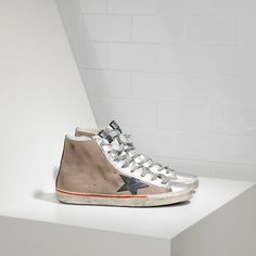 Chaussure Golden Goose Soldes Golden Goose DB Francy sneakers suede Avec leather star Soldes