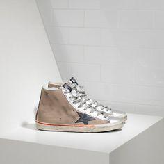 Chaussure Golden Goose Soldes Golden Goose DB Francy sneakers suede Avec leather star Soldes