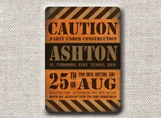Invitation . Construction Zone Collection . by Loralee Lewis. $39.00, via Etsy.