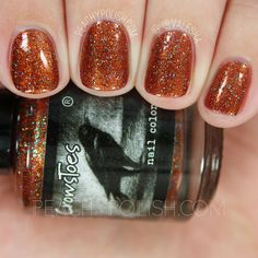 CrowsToes Beyond Your Fears | September 2016 Hella Holo Customs | Peachy Polish