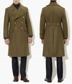 Military Style Double Breasted Coat