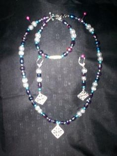 Handmade Necklace and Earring Set Free Shipping S17