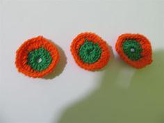 Handmade crochet motif 37mm (3 pcs) Craft supplies Jewelry materials