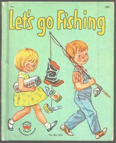 Vintage-Childrens-Wonder-Book-LETS-GO-FISHING-The-Big-Joke