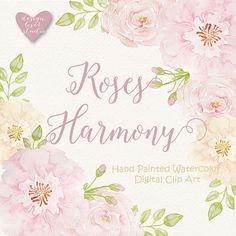 Acuarela rosa Blush Imágenes Prediseñadas por designloverstudio