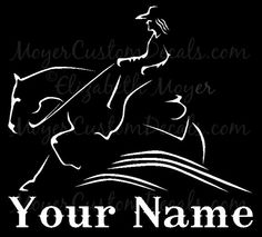 Reining Horse Sliding Stop Western Rider 2 by MoyerCustomDecals