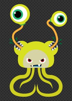 Yet Another Monster Monday vector character illustration by Project Daily